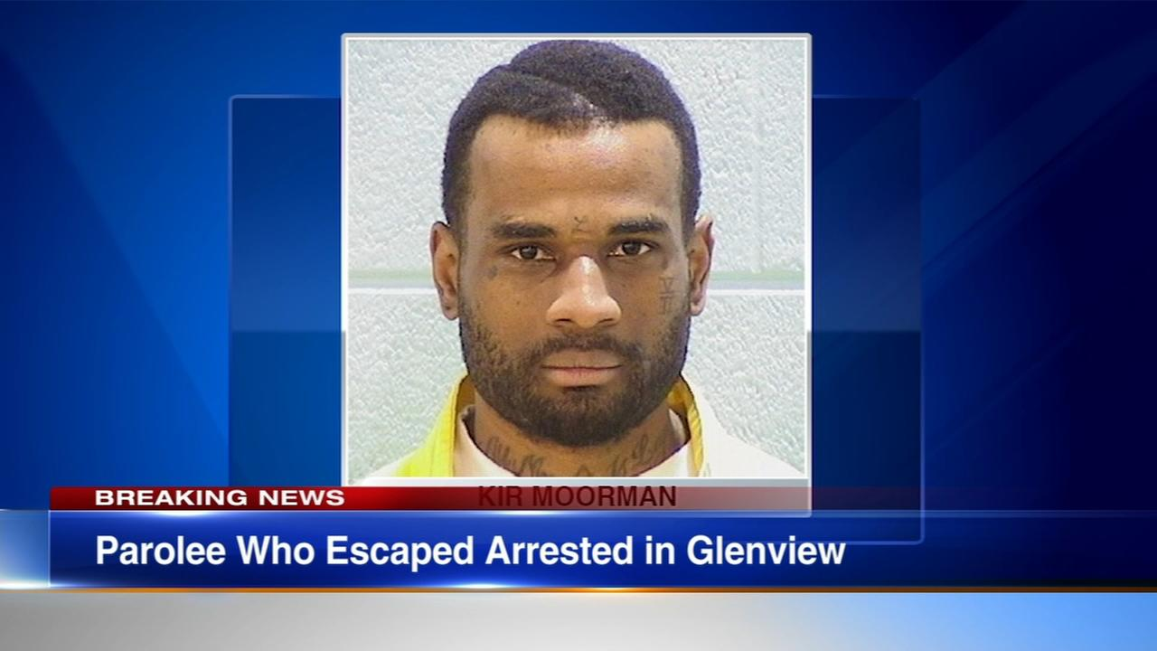 Parolee who escaped in South Shore captured in Glenview, police say