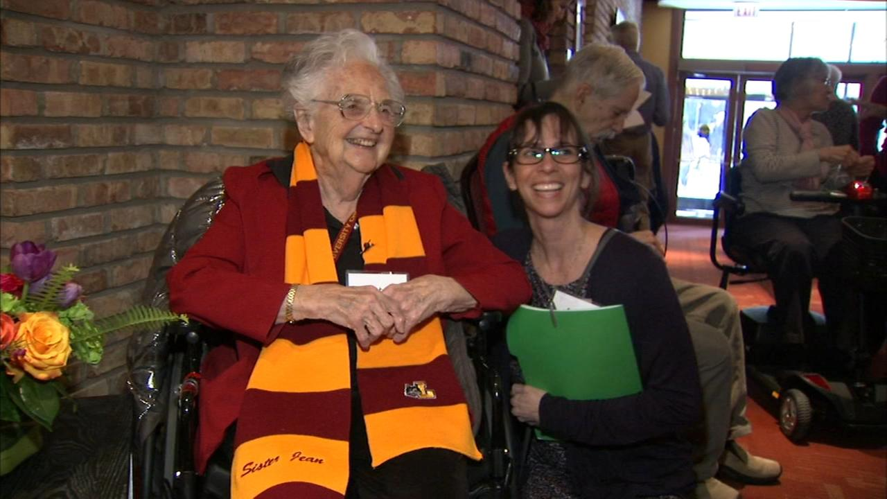 Loyola's Sister Jean given Village Chicago's Trailblazer Award