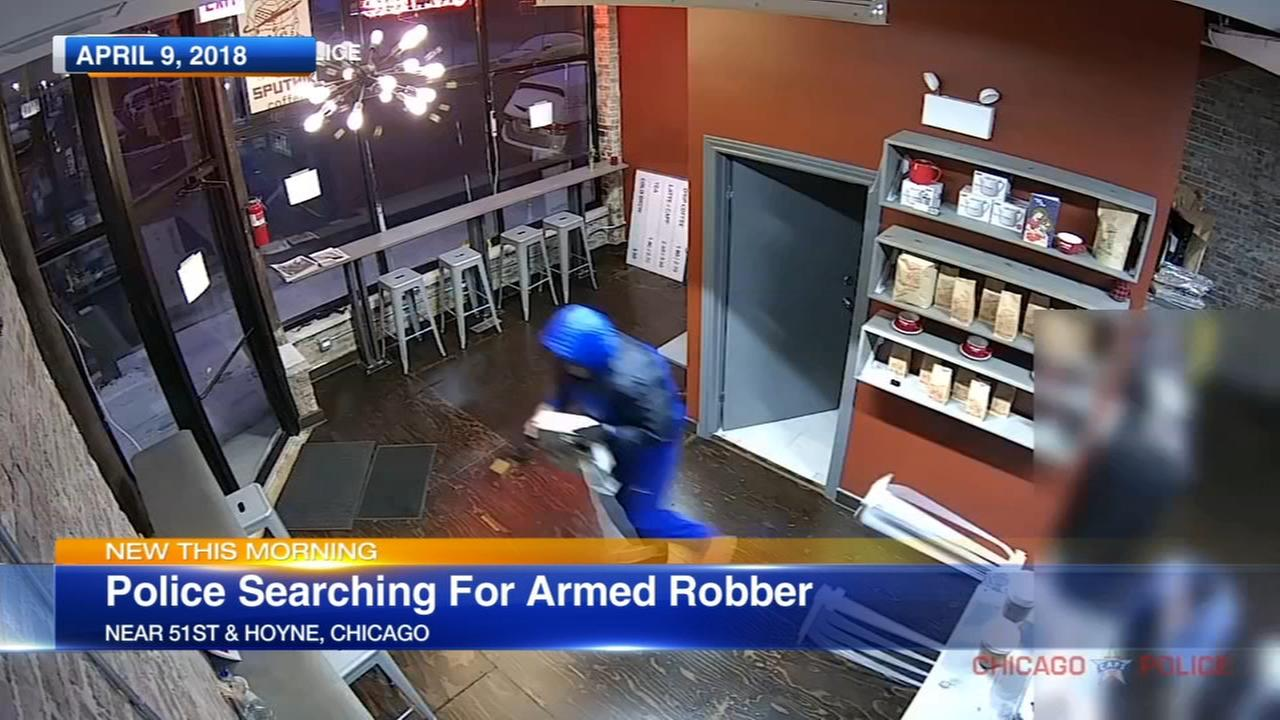 VIDEO: Armed robber steals cash register from Back of the Yards coffee shop