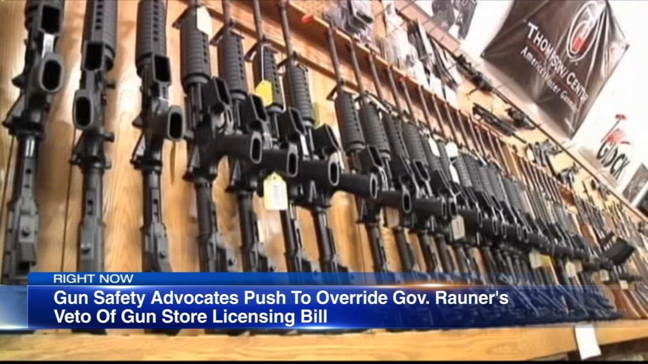 Battle over gun store licensing bill continues in Springfield