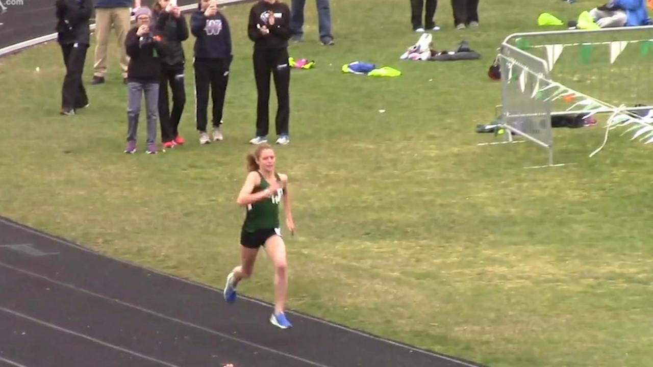 Glenbard West HS runner Katelynne Hart is a record-breaking track star