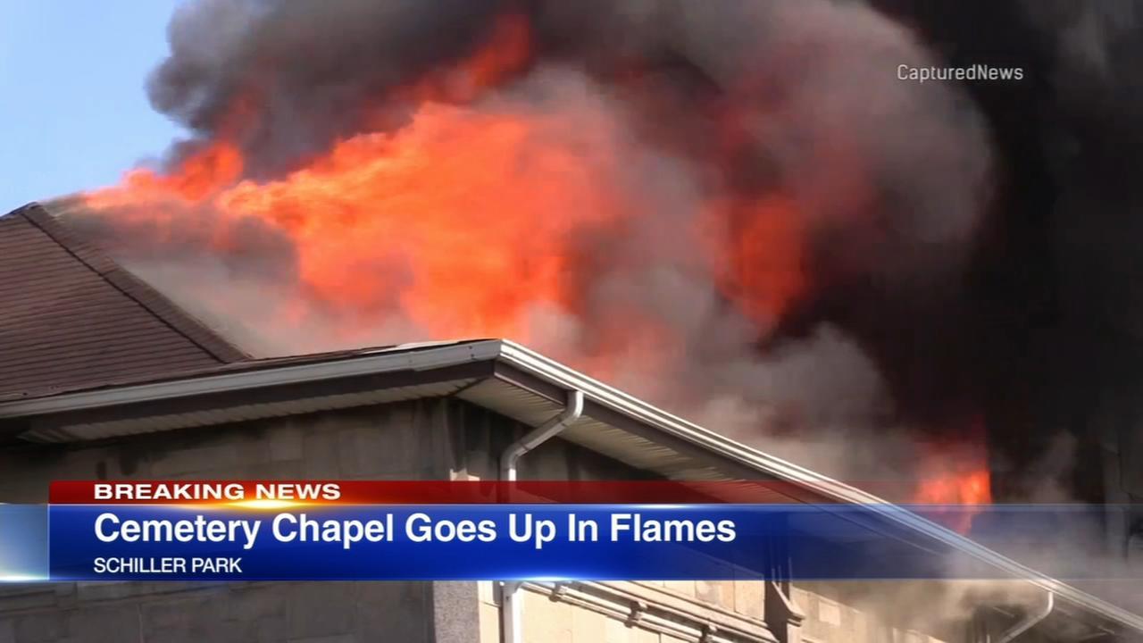 Schiller Park cemetery chapel catches fire