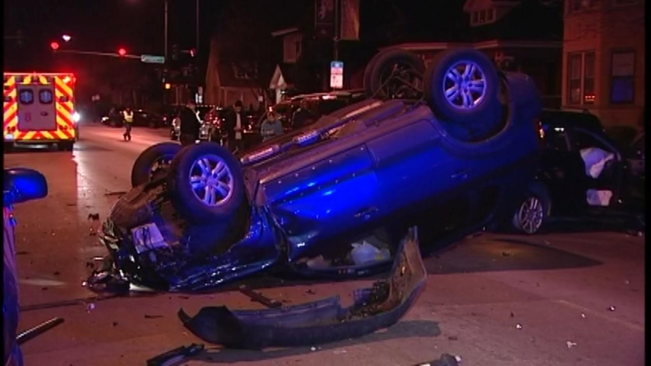 2 drivers missing after 9 cars damaged in Gage Park crash