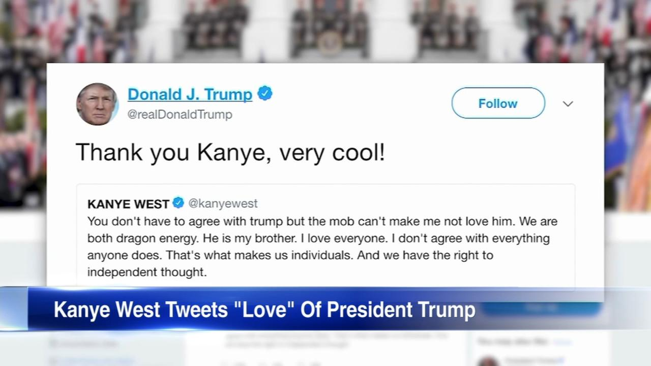 Kanye West tweets support for President Trump