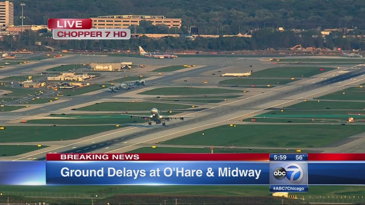 Ground stop ends, delays continue at OHare, Midway