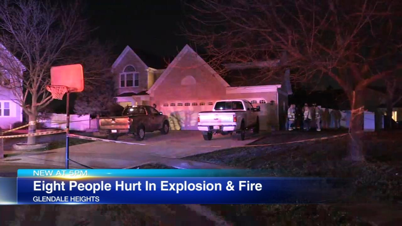 8 injured in Glendale Heights Explosion
