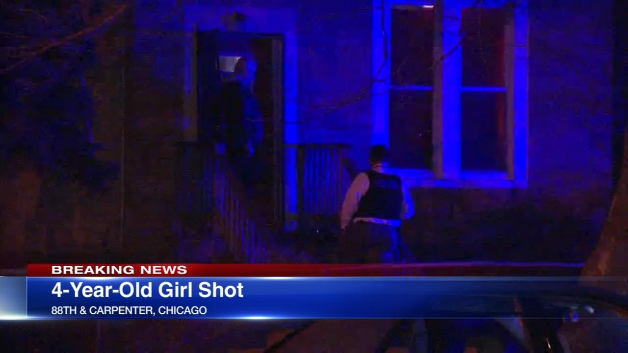 Police: Girl, 4, shot in Auburn Gresham