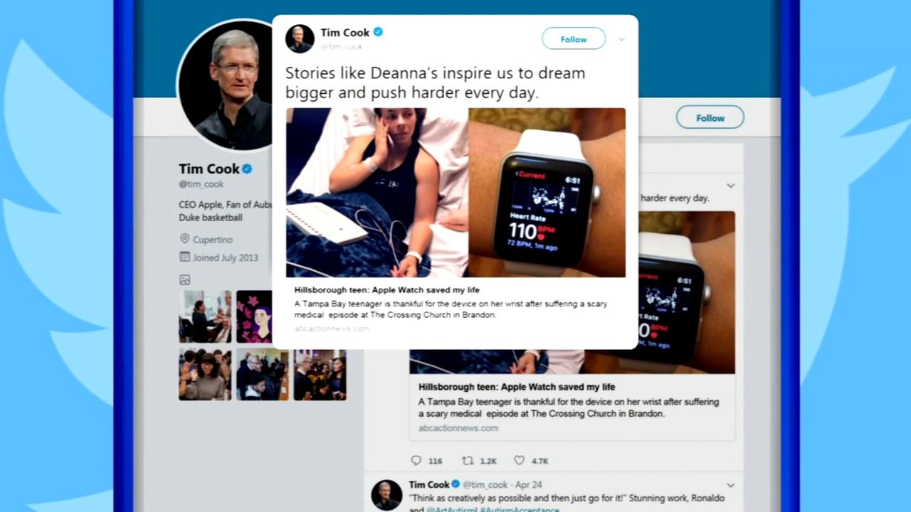 Florida teen personally thanks Tim Cook for Apple watch that saved her life