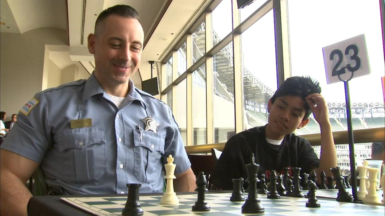 Chicago police take on CPS students in chess challenge