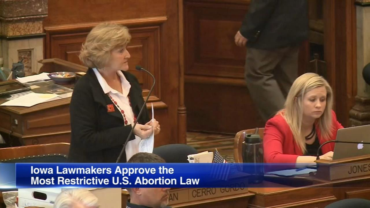 Iowa lawmakers approve banning abortion at fetal heartbeat