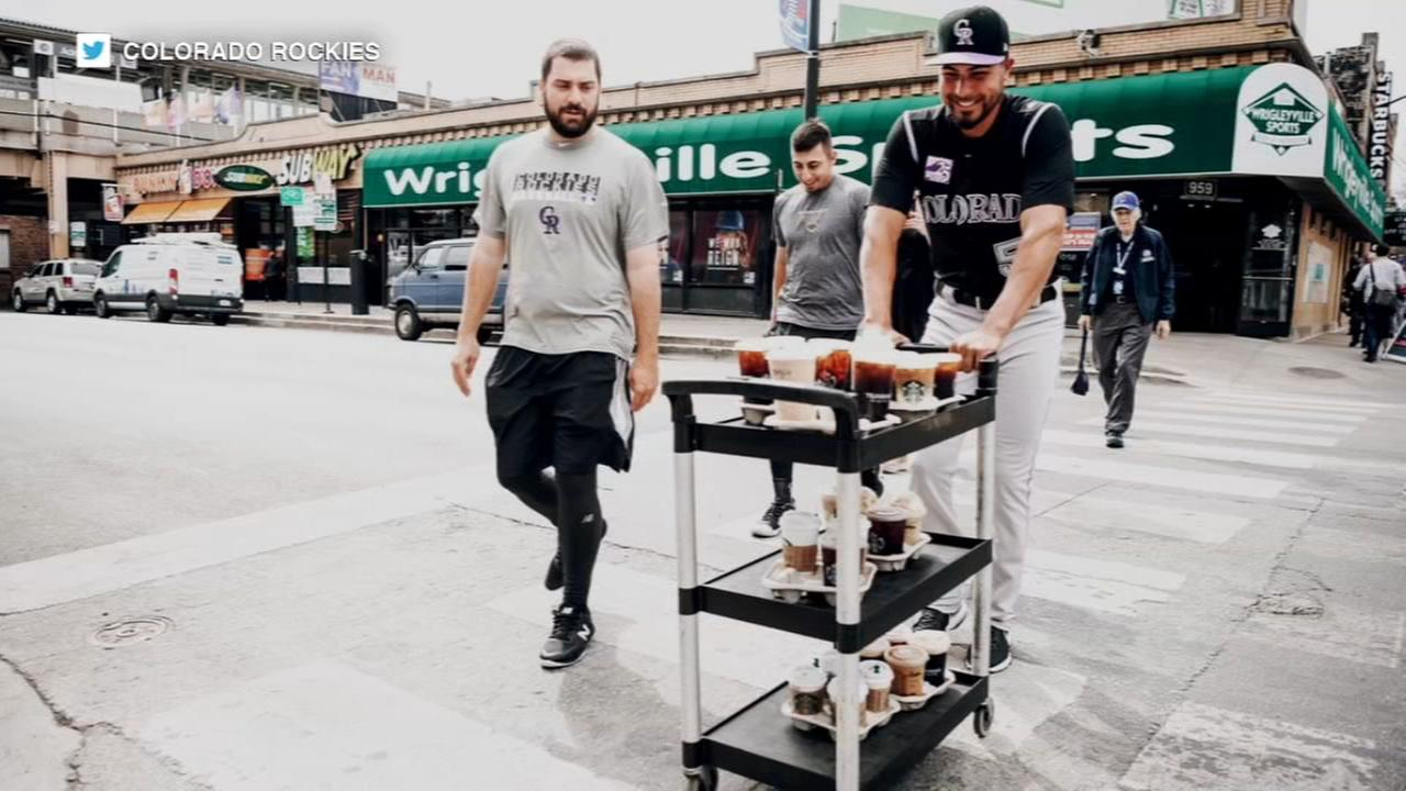 Rockies players make giant coffee run before beating Cubs