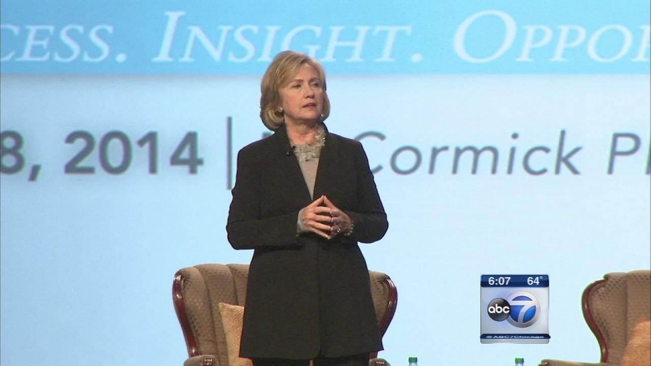 Hillary Clinton attends Quinn fundraiser