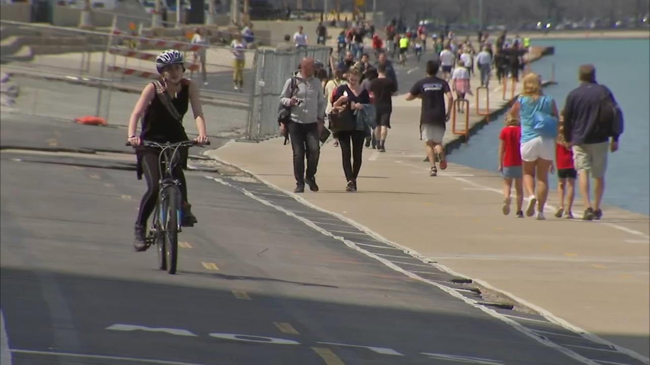 Lakefront Trail changes underway; designated bike, pedestrian lanes open