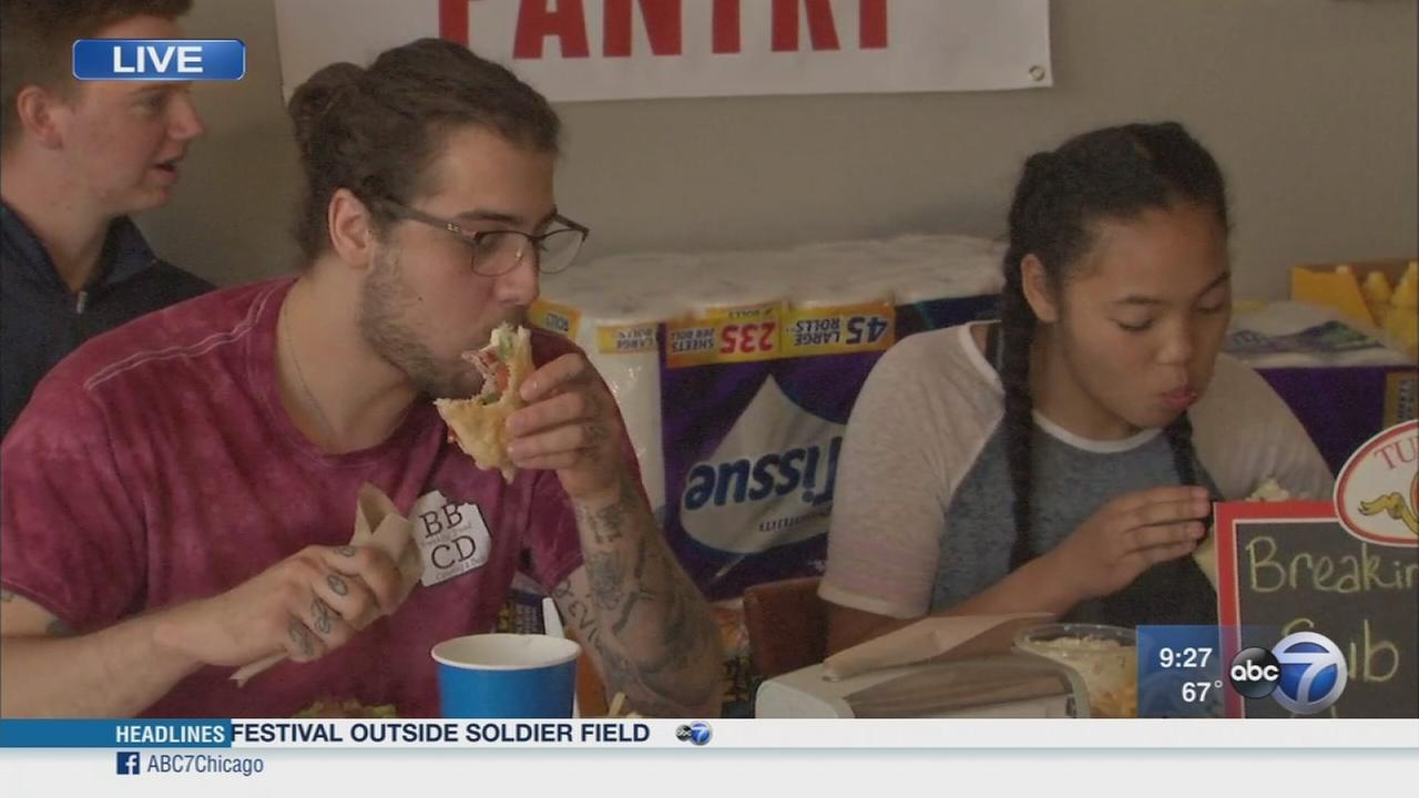 Sub-eating challenge raises awareness for local food pantries