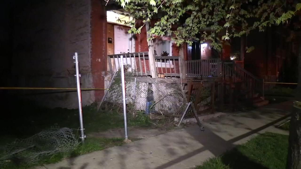 Man pinned up against porch in West Side hit and run