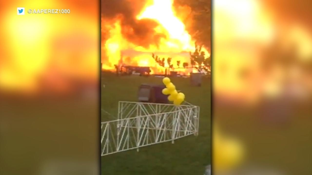 Man, 60, injured after propane tank explodes in Soldier Field parking lot