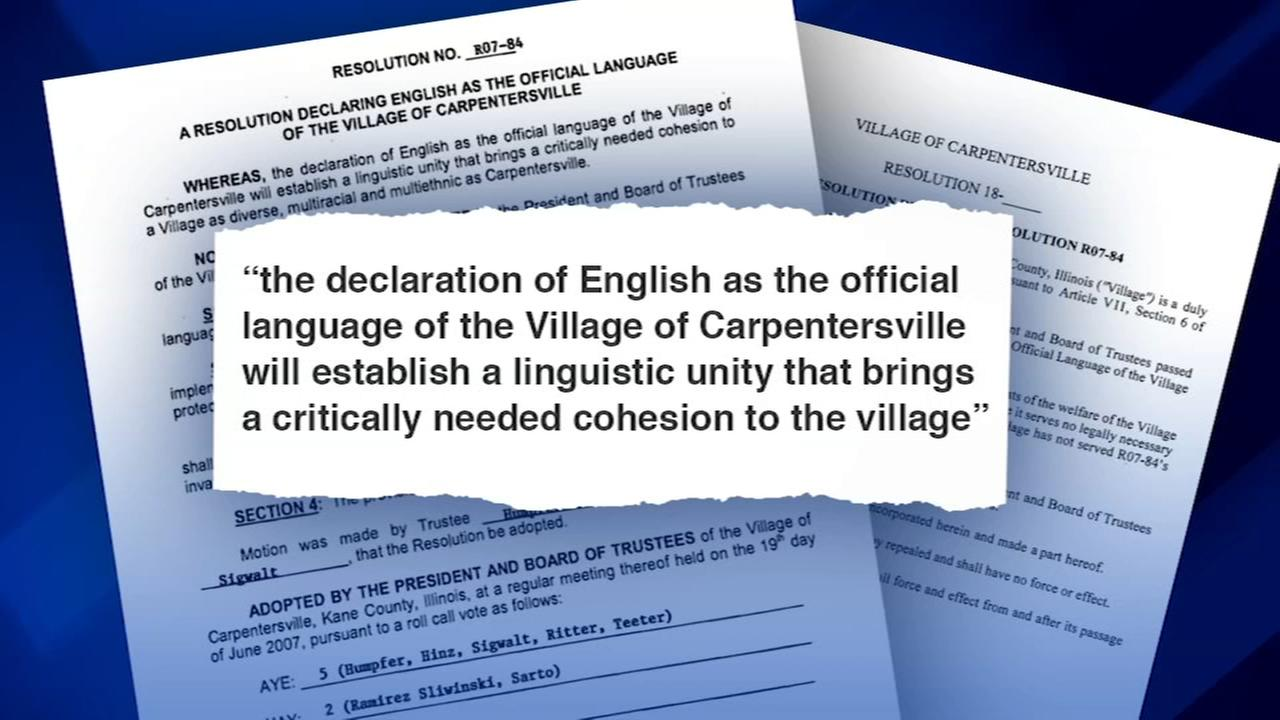 Carpentersville board to vote on repeal of resolution designating English as official language