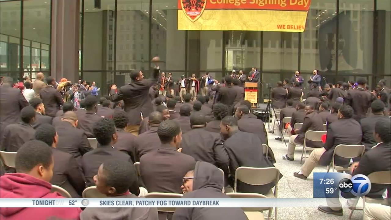 Urban Prep holds annual college signing day event