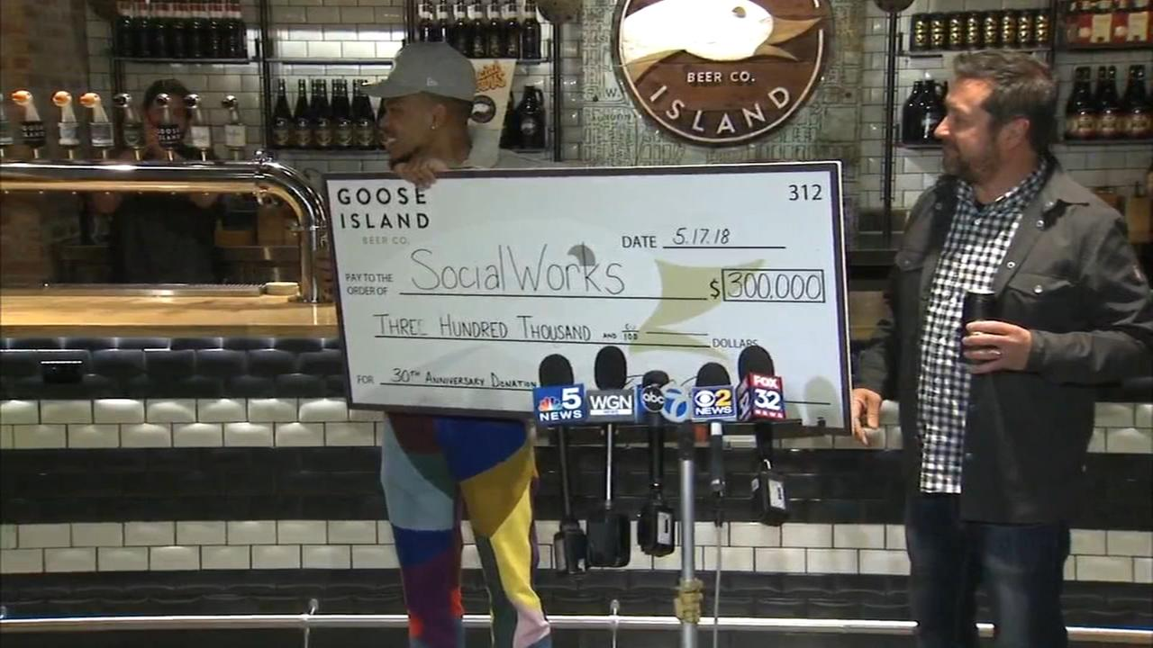 Goose Island Beer donates $300K to Chance the Rapper's SocialWorks charity