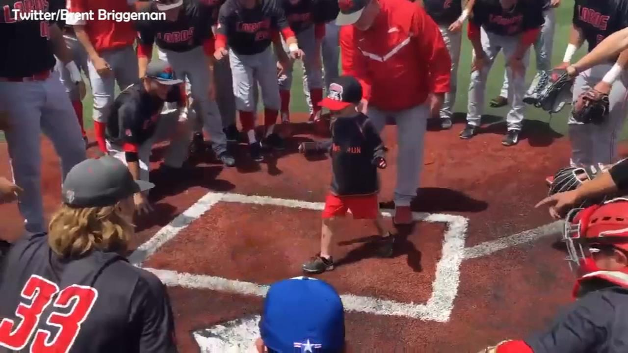 4-year-old cancer patient hits home run