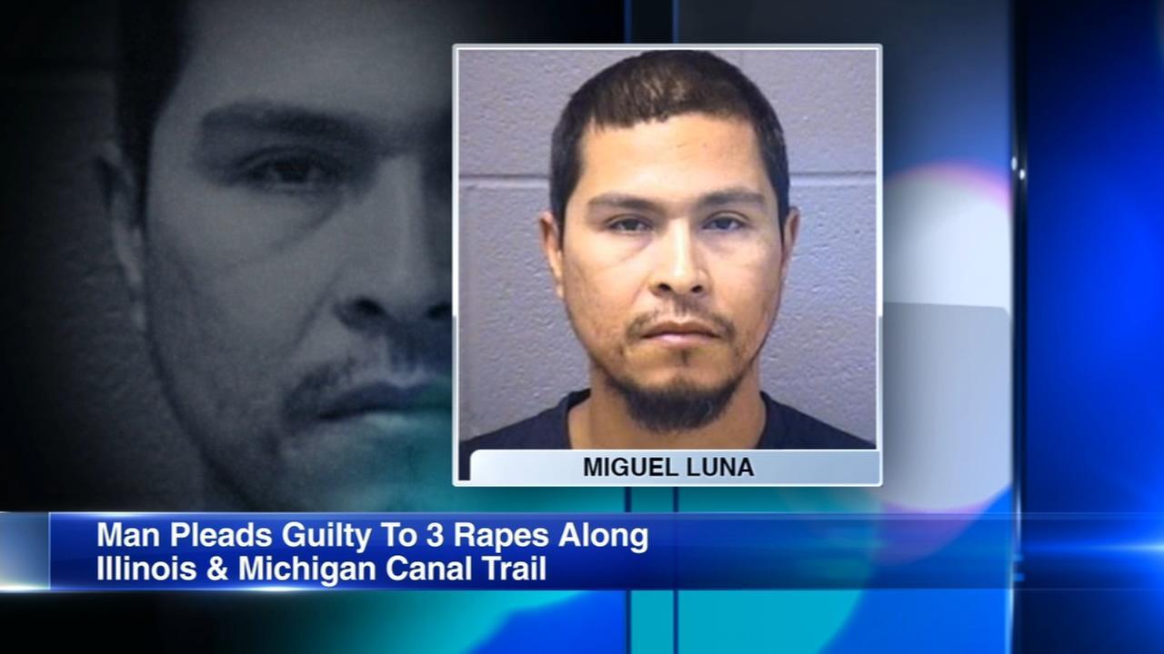Man pleads guilty to raping 3 women on trail in Joliet