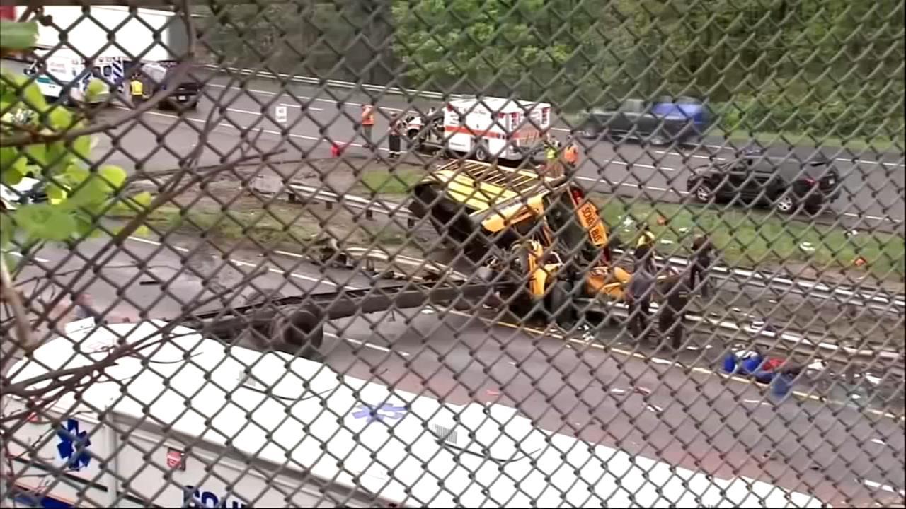 School bus crash kills 2, injures 45 in New Jersey