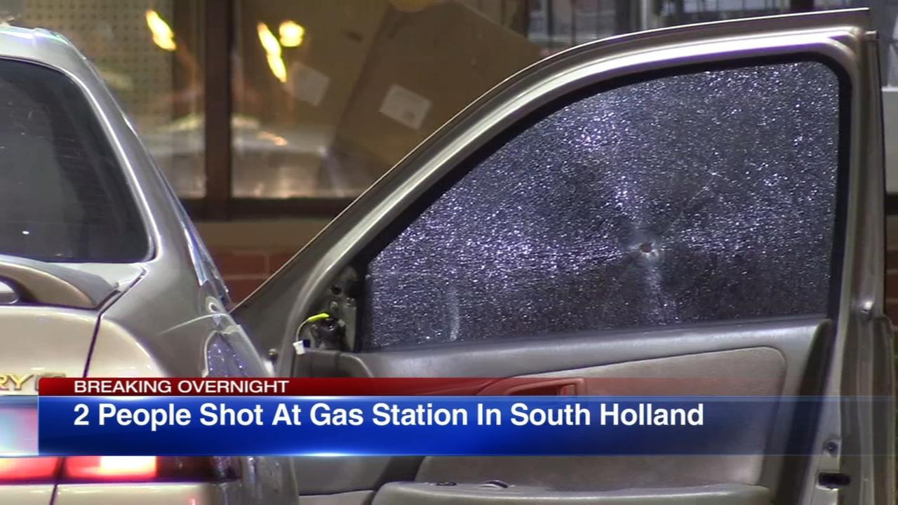 2 shot at South Holland gas station