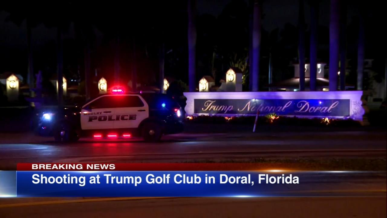 Shots fired at Trump golf club; man arrested
