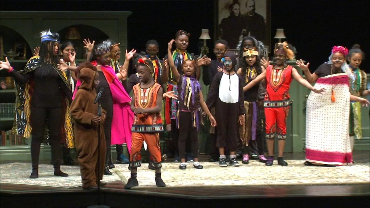 Students perform at Goodman Theatre as part of Disney Musicals in Schools