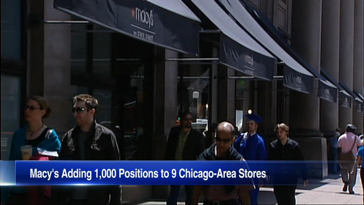 Macys looks to hire 1,000 new Chicago area workers