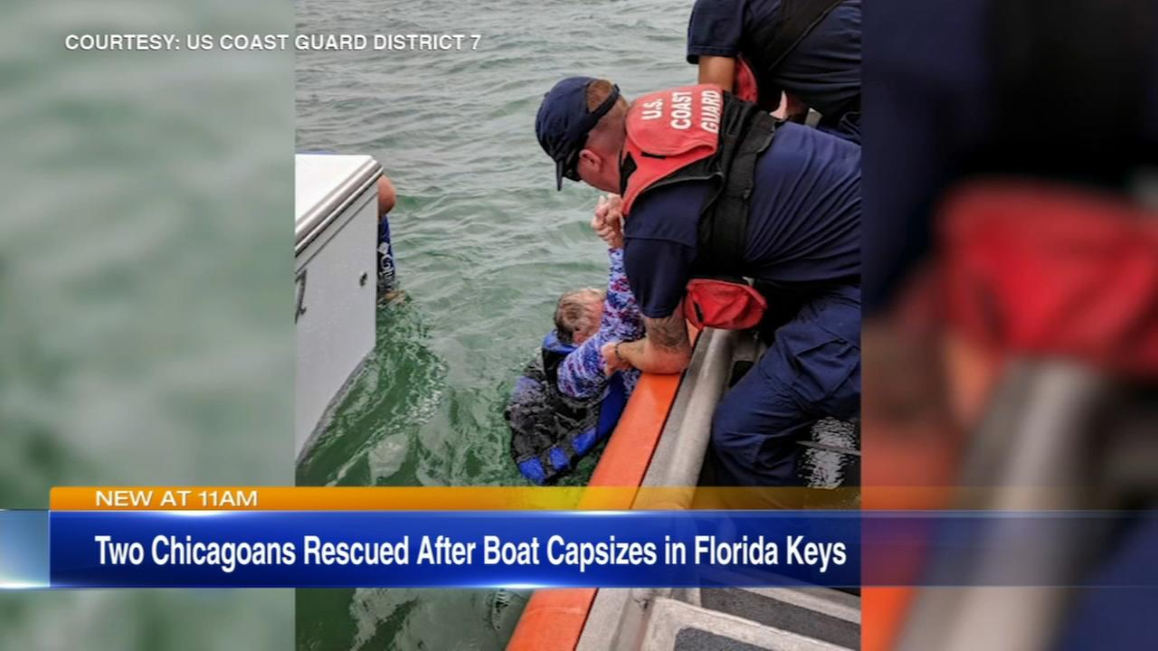 Two Chicagoans rescued after boat capsizes in Florida Keys