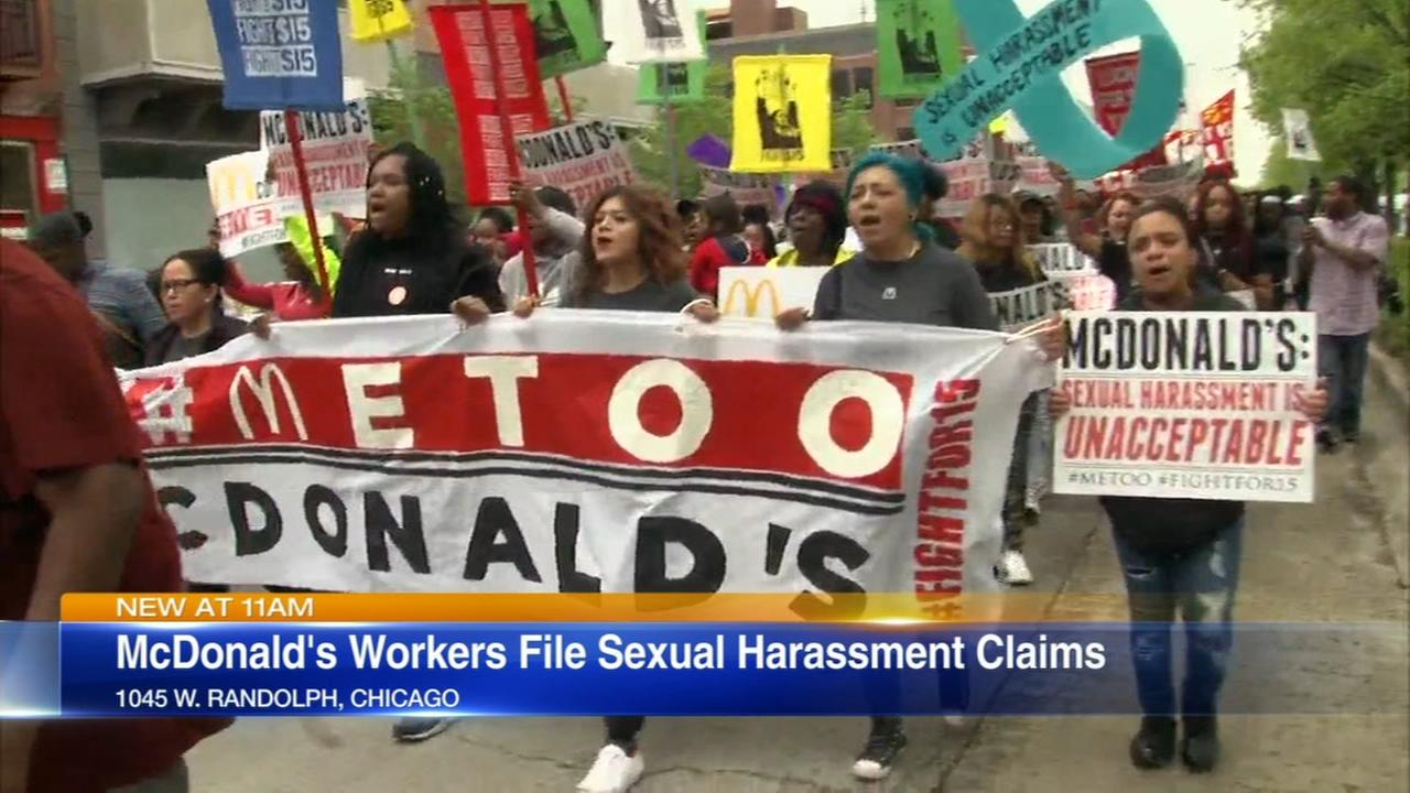 McDonalds workers file sex harassment claims
