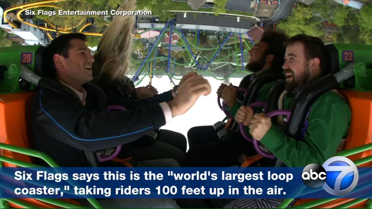 Six Flags unveils worlds largest loop coaster