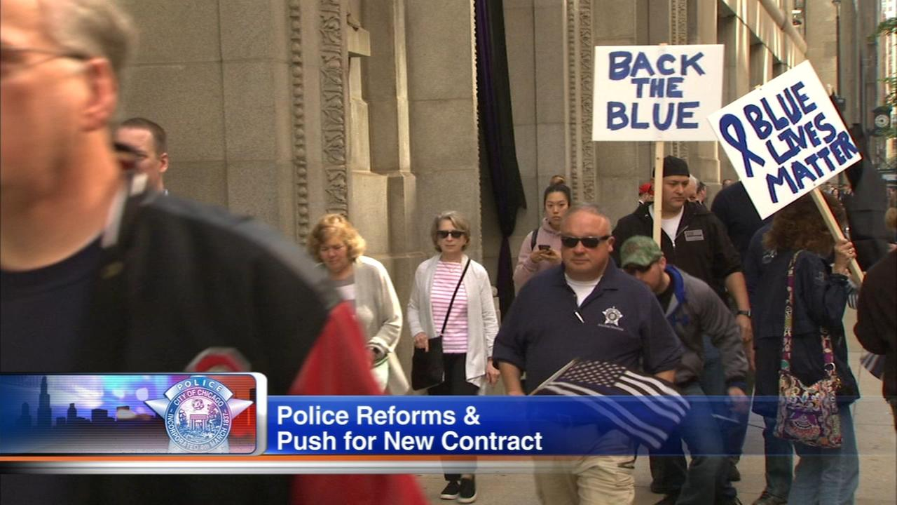 CPD FOP protests reforms, contract