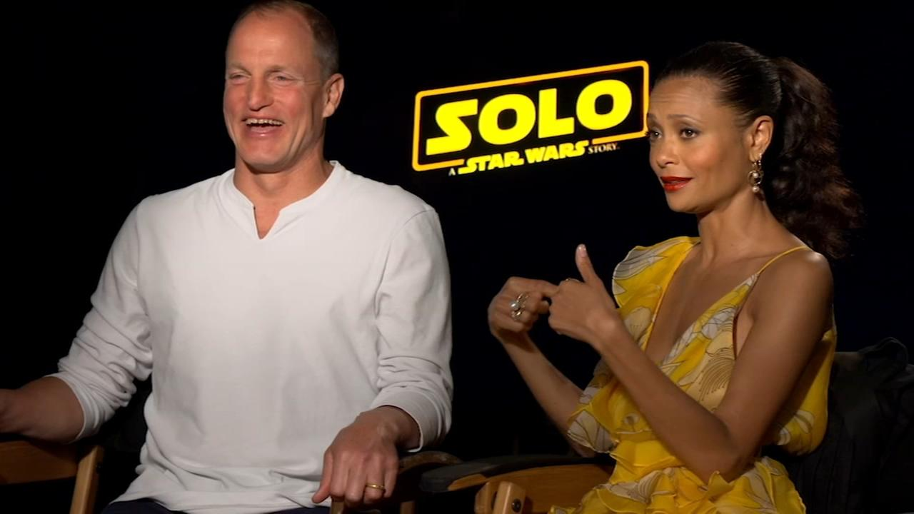Woody Harrelson, Thandie Newton, Chewbaccca on the new Han Solo movie