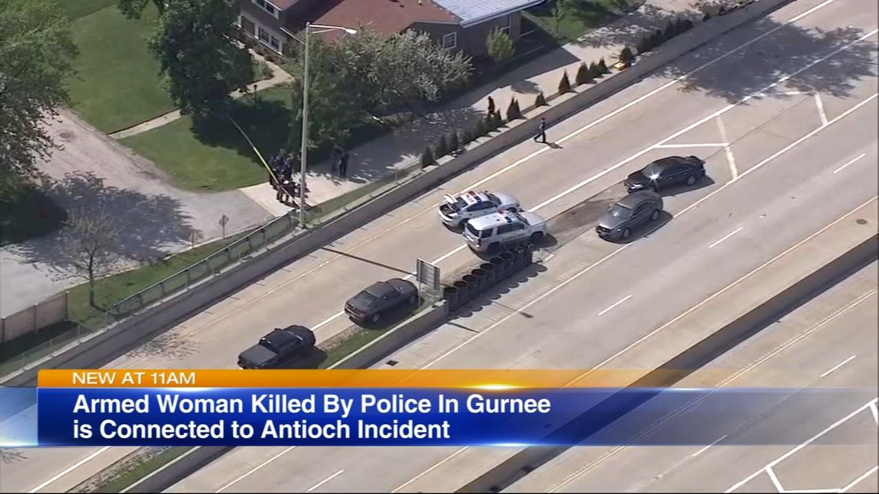 Armed woman shot to death by police in Gurnee linked to Antioch incident