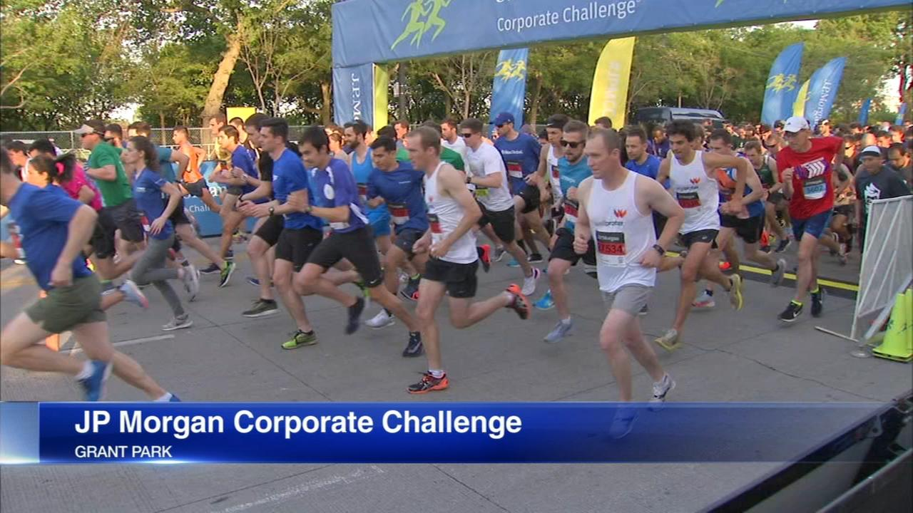 Thousands run in Chicagos JP Morgan Corporate Challenge