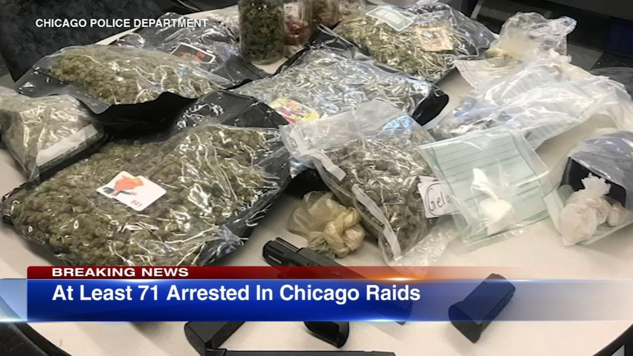 More than 70 arrested in Chicago raids