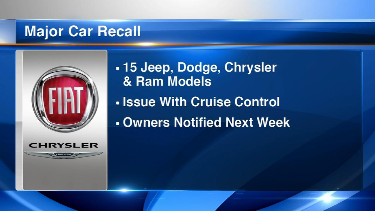 Fiat Chrysler warns 4.8M owners: Dont use the cruise