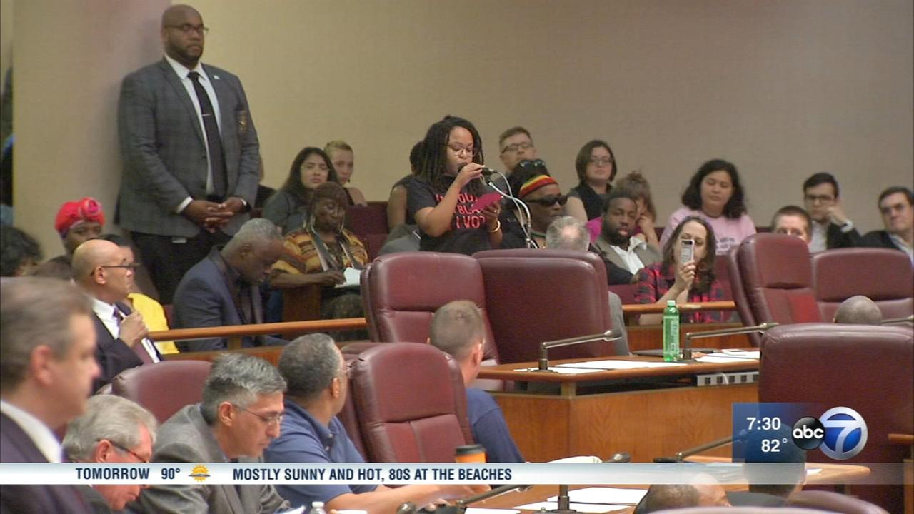 Protesters speak out against new police academy at city council meeting