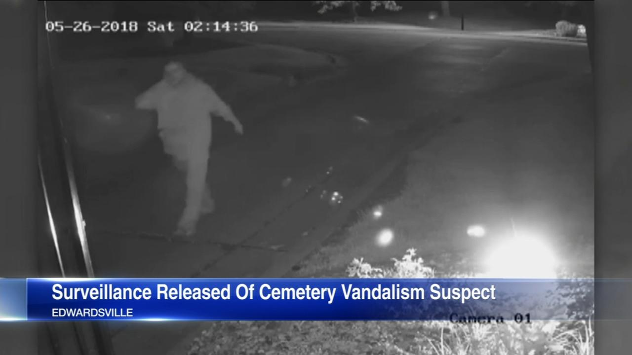Man in custody after vandalism at Glen Carbon, Ill, cemetery