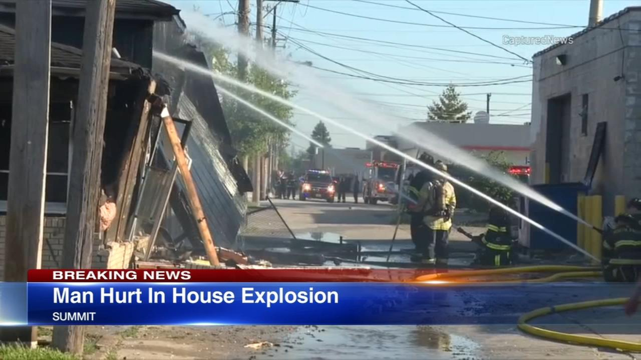 Man injured in Summit house explosion