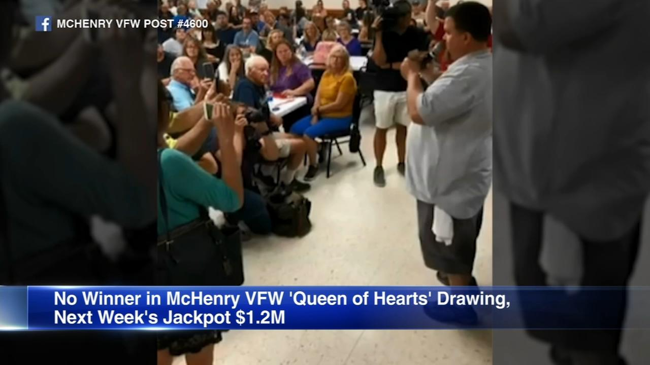 McHenry VFW Queen of Hearts jackpot to top $1.2M