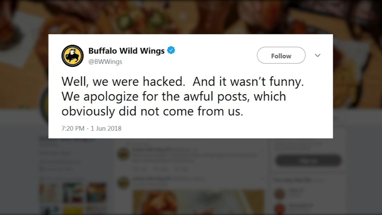 Buffalo Wild Wings Twitter account hacked