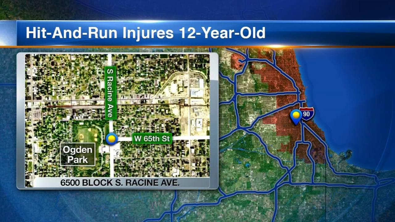 Boy, 12, injured in Englewood hit-and-run