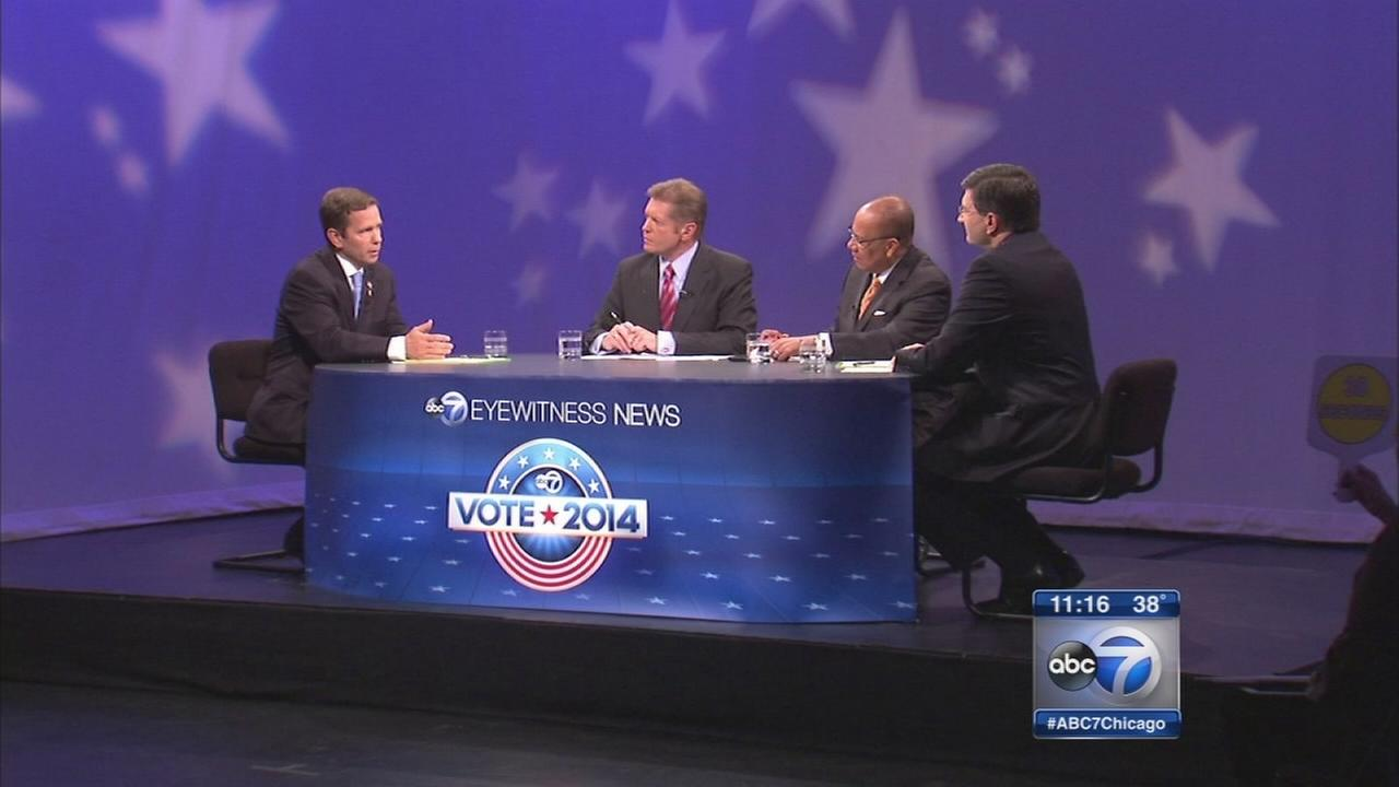 Bob Dold, Brad Schneider square off in debate