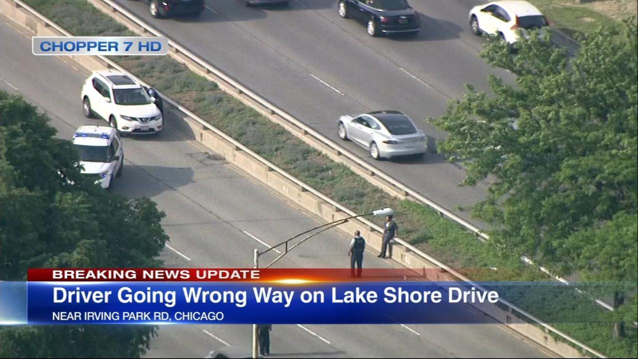 Person in custody after Lake Shore Drive crash, hit-and-run crash