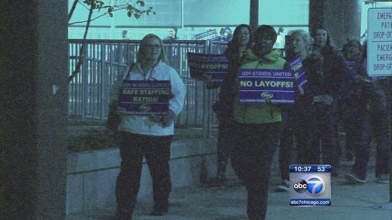 UIC Hospital nurses preparing for Tuesday strike