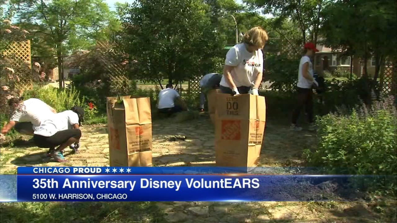Jovan Peace Garden in Austin built with help of ABC7, Disney volunteers