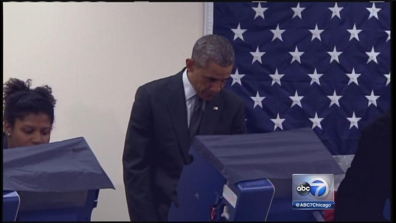 President Obama votes early in Chicago